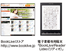 BookLive!ストア http://www.booklive.jp 電子書籍専用端末「BookLive!Reader Lideo(リディオ)」