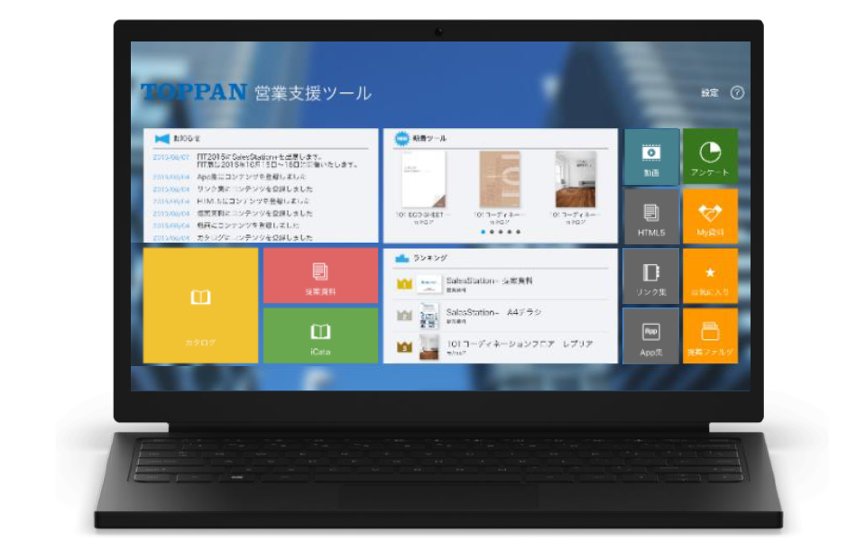 SalesStation+ Windows アプリイメージ